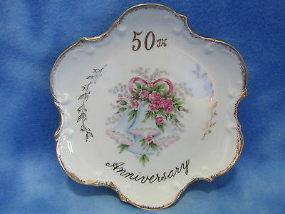 Beautiful Vintage 50th Anniversary Plate - Norcrest Fine China