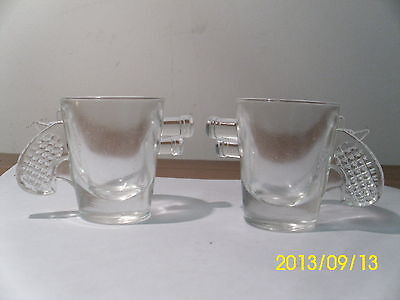 2 Peltier Marble Ottawa Gun Shaped Clear Shot Glass