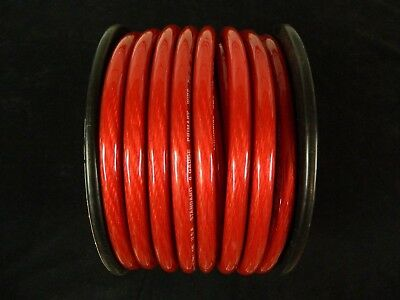 0 Gauge Wire 25 Ft Red 1/0 Awg Power Ground Cable Stranded Automotive Car Audio