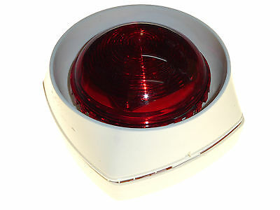 Sounder alarm with red flashing strobe signal loop powered Gent S3-SN-ST-WR new