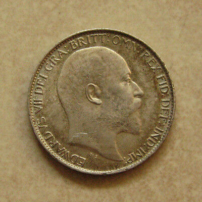 Silver Sixpence 1902 Coin King Edward Vii About Uncirculated Grade