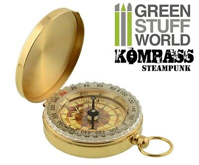 Retro SteamPunk Pocketwatch COMPASS - traveller cosplay jewellery antique pocket