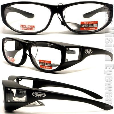 225ba73db2c GLOBAL VISION ESCORT Clear Safety Glasses Fit Over Most Z87.1 ...