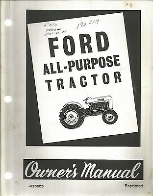 Ford Series 2000 And 4000 All-Purpose Tractor Owners Manual