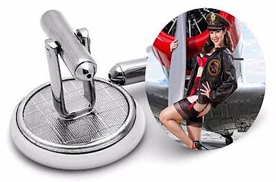 Air Tail Art Pin  Up  logo Mens Cufflinks ,Brithday  Gifts Cufflinks typ3