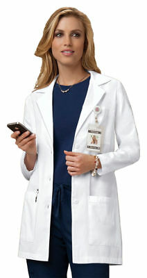 "Cherokee Women's 32"" Pockets Notched Collar Long Sleeve Nursing Lab Coat. 346"