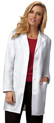 "Cherokee Women's Workwear Center Back Belt Long Sleeve 33"" Lab Coat. 2351"