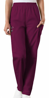 Cherokee Workwear Scrubs Pants Women Cargo Pocket Pull on Elastic Waist 4200