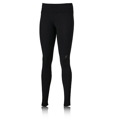 ASICS Lite Show Womens Black Long Sports Running Fitted Tights Bottoms Pants