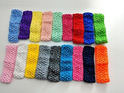 6X Headbands Hair bands Baby Girl Boy New Crochet Stretch Tutu 1.5 inch