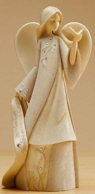 Enesco Foundations April Monthly Angel Figurine, 7-1/2-Inch, New, Free Shipping