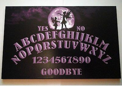 A4 Wooden Full Moon Fairy Ouija Board & Planchette Faerie, Spritiual, Ghost Hunt
