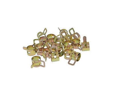 Scooter Moped Fuel / Pipe Hose Clamps 8mm - 20 pieces - Universal