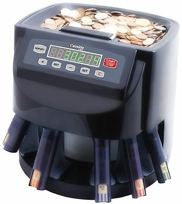 Commercial Money Coin Counter Sorter Machine Change Wrapper Digital NEW