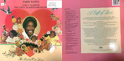 Disco 33 Giri -   Barry White  ‎– The Best Of Our Love                 2 Lp  (B)