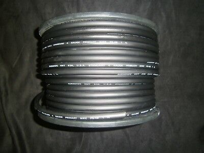 4 Gauge Wire Awg 100 Ft Cable Black Super Flexible Primary Stranded Power Ground