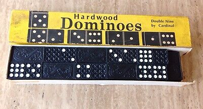 Vintage Cardinal Double Nine Hardwood Dominoes #554 Game Instructions Germany