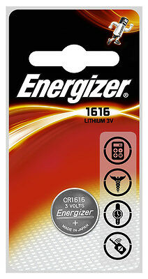 2 x Energizer 1616 CR1616 3V Lithium Coin Cell Battery DL1616 KCR1616, BR1616