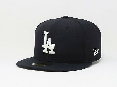 separation shoes 5a7ef a8744 New Era Hat 59Fifty MLB Los Angeles Dodgers Fitted Custom Cap Navy Blue 5950