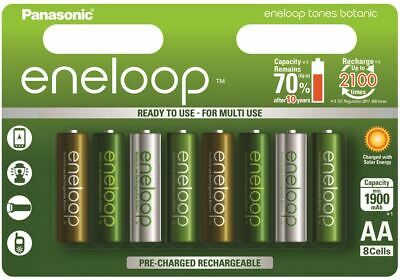8x Panasonic Eneloop AA Rechargeable LSD NiMH Batteries - 4th Gen