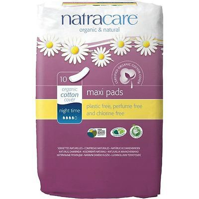Natracare Maxi Pads Night Time 10 Pieces