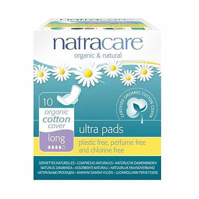 Natracare Ultra Pads Long with Wings 10 Pieces