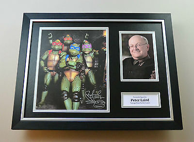 Peter Laird Signed Photo Framed 16x12 Ninja Turtles Autograph Display + COA