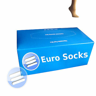 Hygienic Disposable Foot Try on Socks Dispenser Box of 144 (One size fits all )