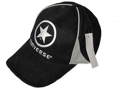 Converse black grey adult cotton adjustable peaked basketball sport cap one size