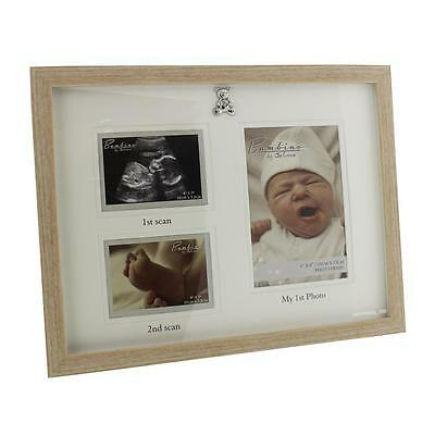 Triple Baby Scan Photo Frame Gift With 3D Teddy Icon CG1224