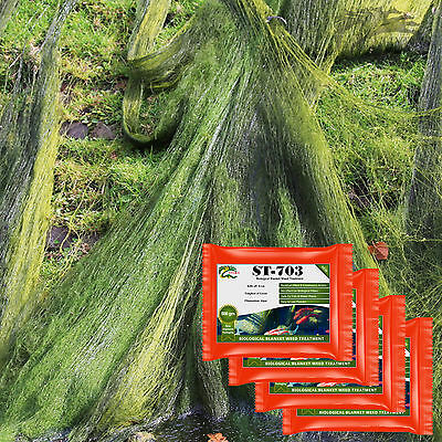 Pond Green Algae Blanket Weed Treatment HYDRA ST703 4x1KG Treats up to 80,000L