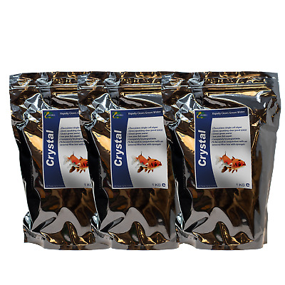 Pond Fish Green Water Treatment HYDRA CRYSTAL 3X1KG Use With External Filter Box