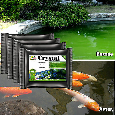 Green Water Treatment HYDRA CRYSTAL QTY. 4 of 1KG Work With External Filter