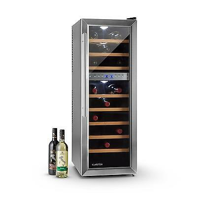 Klarstein Reserva 27D Wine Fridge 2 Zones 76 Litres 27 Bottles * Free P&p Uk