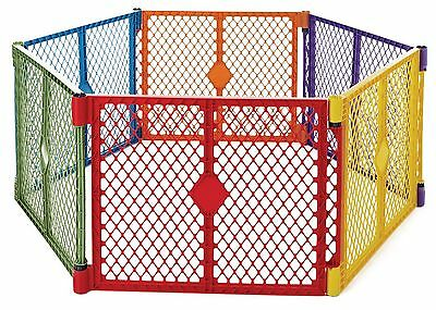 Superyard Play Yard Baby Children Safety Gate Fence Playpen Outdoor Indoor 6