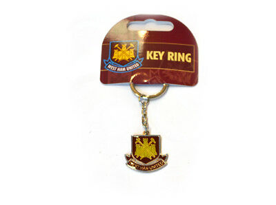 West Ham United WHUFC Football Club Badge Metal Fob Keyring Keychain Official