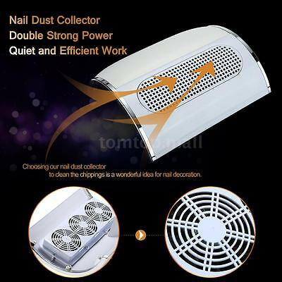 Nail Dust Collector Fingernail Cleaning Collector  Collection Fan Salon Q5B7