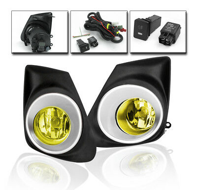 2011 2012 2013 Toyota Corolla L Le S Yellow Bumper Fog Lights+Switch+Harness Kit