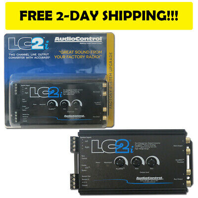 BRAND NEW AUDIOCONTROL LC2i  BLACK 2 CHANNEL LINE OUTPUT CONVERTER WITH ACCUBASS
