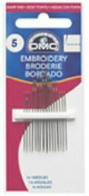 DMC Embroidery Needles size 1-5, 3-9, 5-10