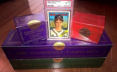 Topps Tiffany Set Lot - 1987, 1988, 1990 COMPLETE