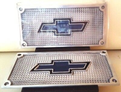 Chevrolet Chevy Flat Polished Aluminum Running Board Step Plate SET Bowtie Logo