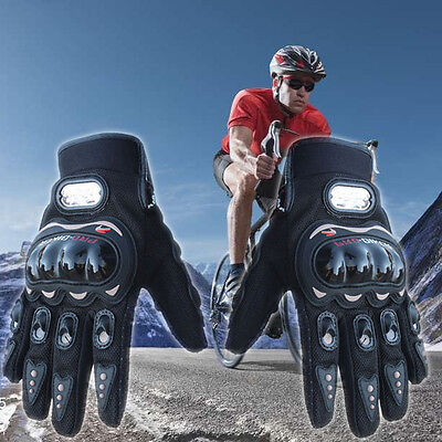 Black Motorbike Motorcycle Enduro Racing Motocross Glove Full Fingers Protective