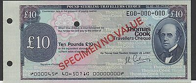 Travellers Cheque / Thomas Cook  10 Pounds   London Specimen  Uncirculated