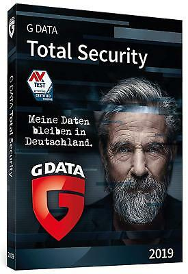 G Data Total Security 2018 * 3 PC * 1 Jahr * Lizenz auch 2019 * GData
