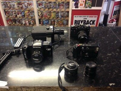Job Lot Of 4 Vintage Cameras And Lenses.(Used)
