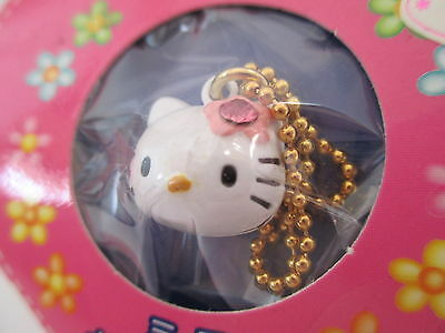 Hello Kitty Strap Charm Bell Sanrio - Vintage - Birthday October Rose - KAWAII