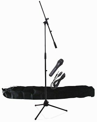 Professional Microphone Stand with Microphone & Carry Bag Complete Kit NJS KIT10