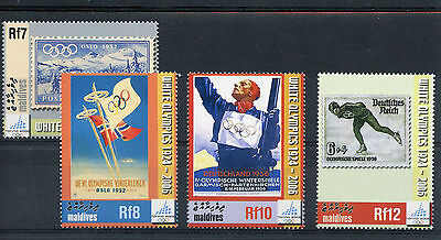 Maldives 2006 MNH Winter Olympics Torino 4v Set Stamps-on-Stamps Posters