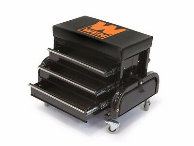 Rolling Tool Chest Seat Storage Garage Toolbox 3 Drawer Portable Cart Wheels NEW